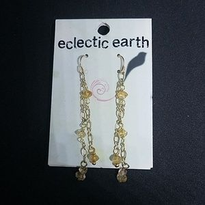 NWT Eclectic Earth Gold Plated Dangling Earrings